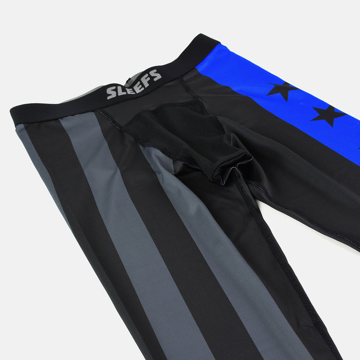 Ancient Helmet Six Stars Thin Blue Line Tights for men