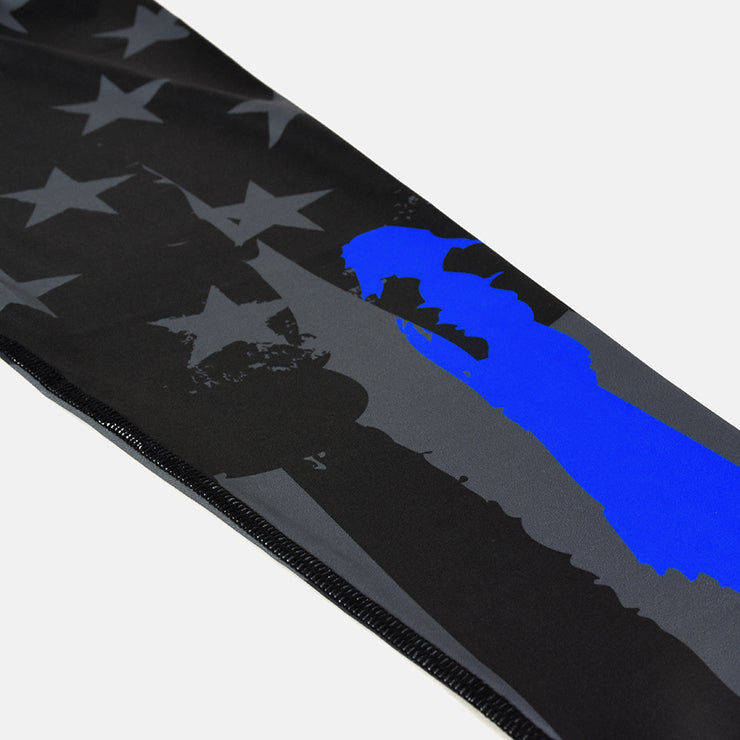 Matthew 5:9 Tactical Brushed USA Flag Thin Blue Line Tights for men