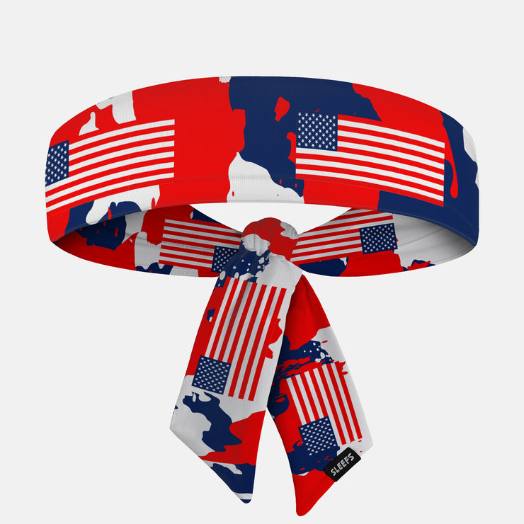Rusty Pattern USA Ninja Headband