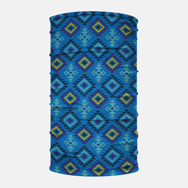 Native American Blue Neck Gaiter