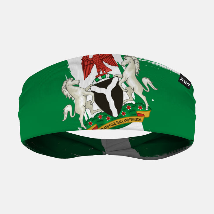 Nigeria Brushed Flag Headband