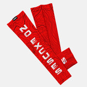 No Excuses Red Kids Arm Sleeve