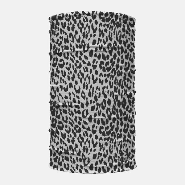 Noofa Leopard Black Gray Neck Gaiter