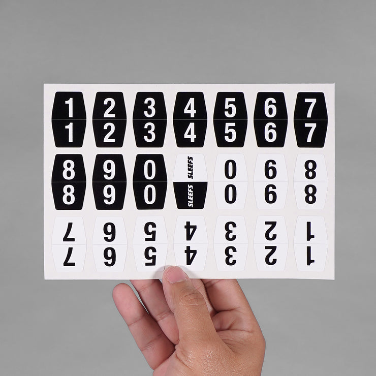 Numbers Stickers for Helmets