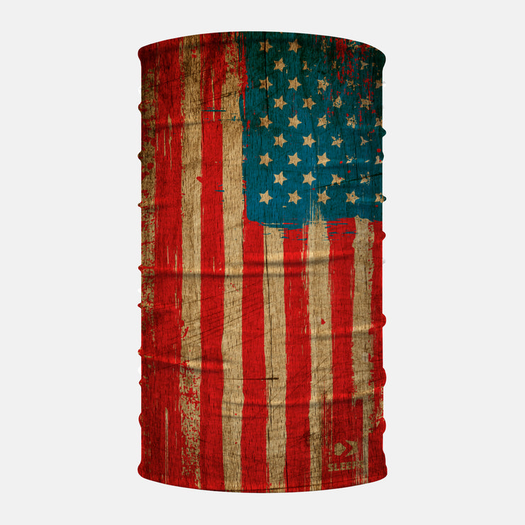 Old Wood USA Flag Neck Gaiter