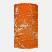 Orange Grunge Neck Gaiter