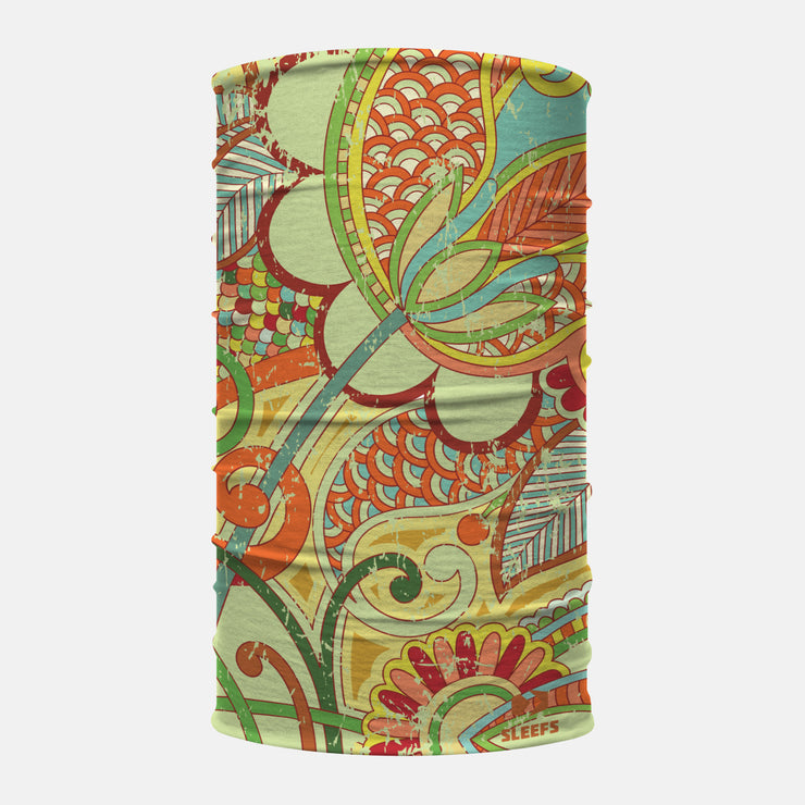 Paisley Design Light Green Neck Gaiter