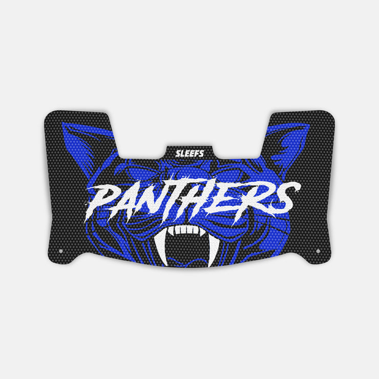 Panthers Black Blue Visor Skin