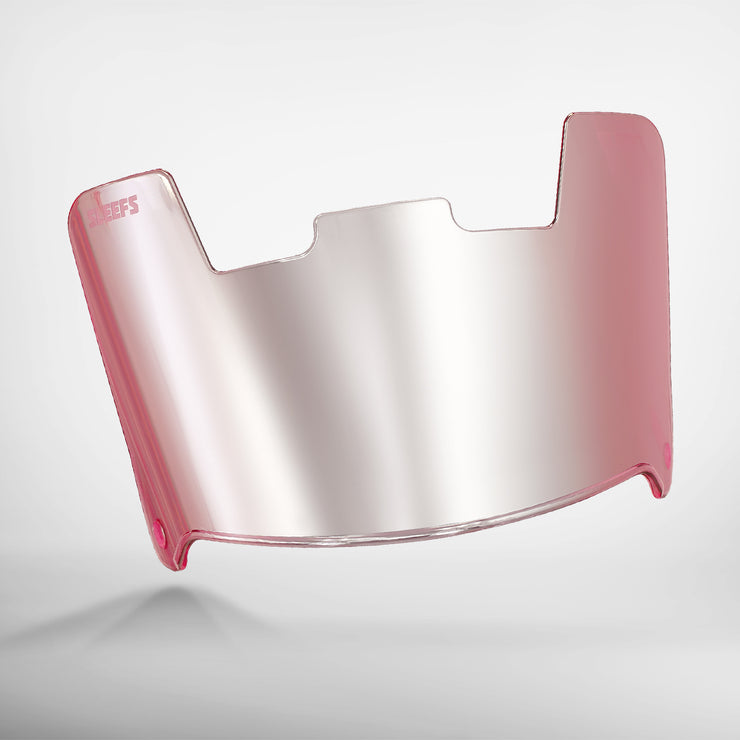 Pink Machine Silver Helmet Eye-Shield Visor