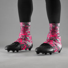 Digital Ultra Metal Pink Spats / Cleat Covers