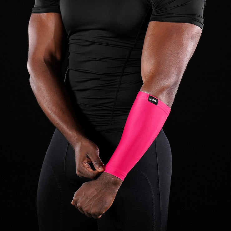 Hue Pink Forearm Compression Sleeve