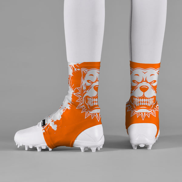 Pitbull Orange Spats / Cleat Covers