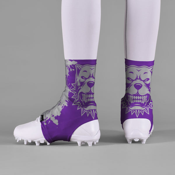 Pitbull Purple Spats / Cleat Covers