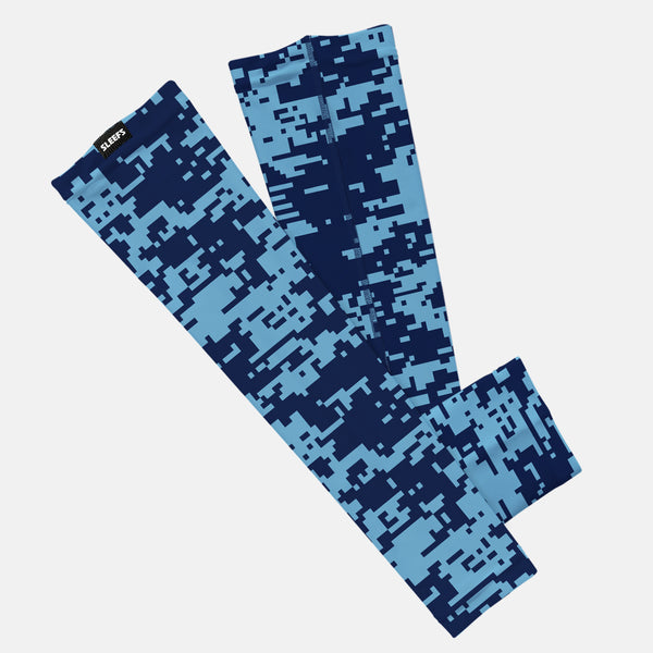 Pixel Navy and Blue Kids Arm Sleeve
