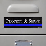 Protect and Serve Sticker