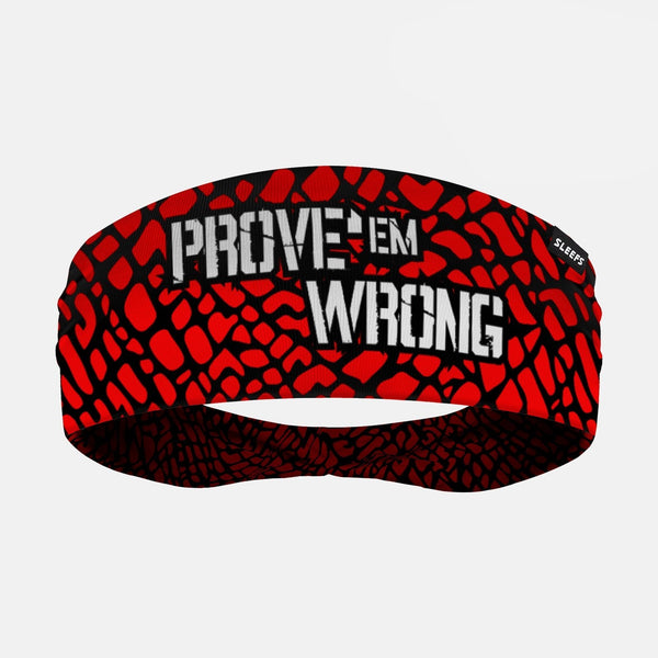 Prove'em Wrong Red Double Sided Headband