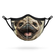 Pug Dog Kids Face Mask With Nose Shape