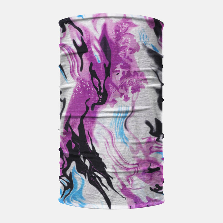 Purple Marble Neck Gaiter