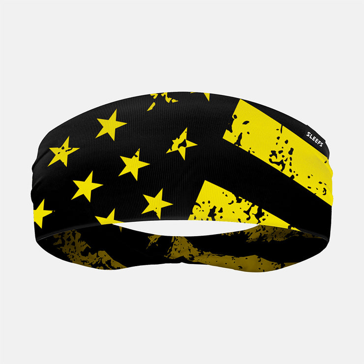 Rusty Black Yellow USA Headband