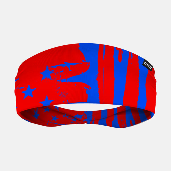 Red Blue USA Flag Headband