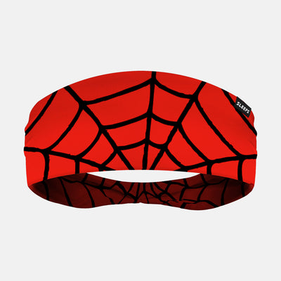 Red Web Pattern Headband