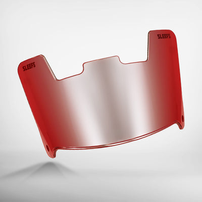Red Rage Silver Helmet Eye-Shield Visor