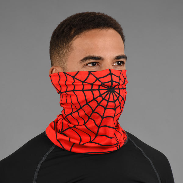 Red Web Pattern Neck Gaiter