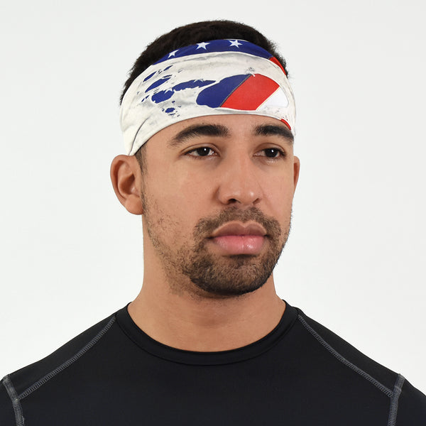Ripped USA Flag Headband