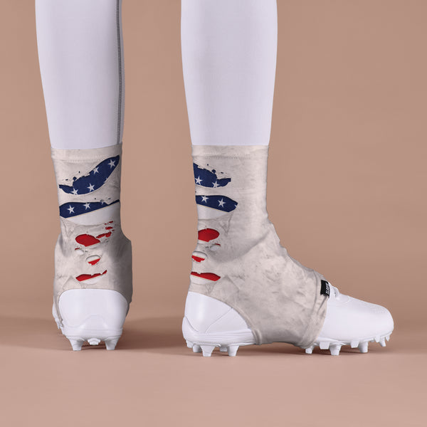 Ripped USA Flag Spats / Cleat Covers