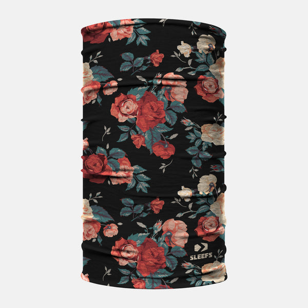 Roses Black Neck Gaiter