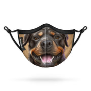 Rottweiler Dog Kids Face Mask With Nose Shape