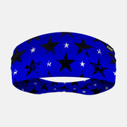 Rusty Stars Blue and Black Headband