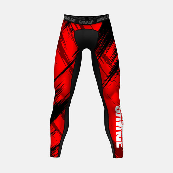 Sleefs Savage 2.0 Red Compression Tights / Leggings