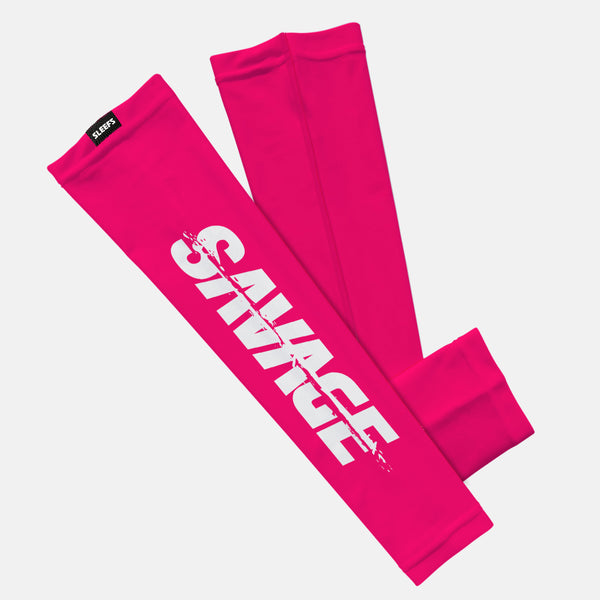 Savage Spell Out Pink White Kids Arm Sleeve