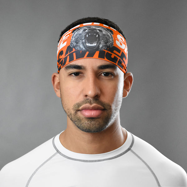Savage Bear Orange Headband