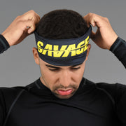 Savage Black Yellow Headband