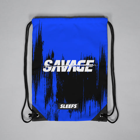 Savage Blue Pull-String Bag