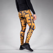 Savage Chroma Black Gold Tights for Men