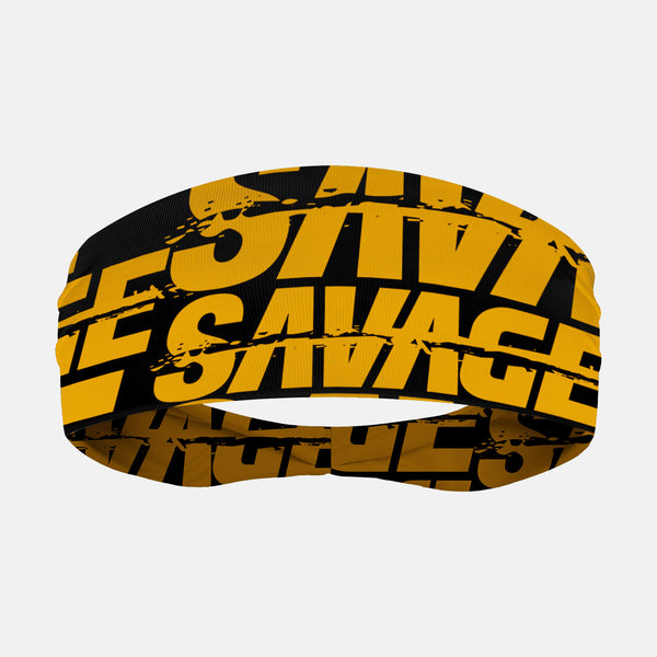 Savage Chroma Black Yellow Headband