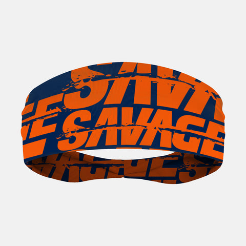 Savage Chroma Navy Orange Headband