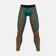 Savage Chroma Orange Teal Tights for Men