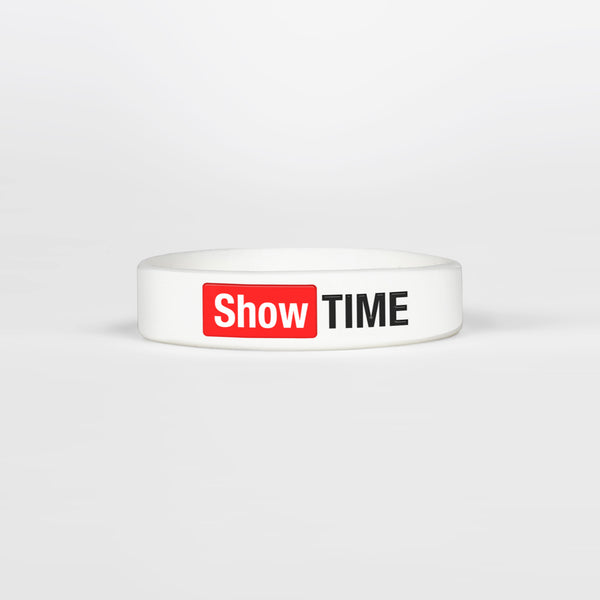 Showtime White Kids Motivational Wristband