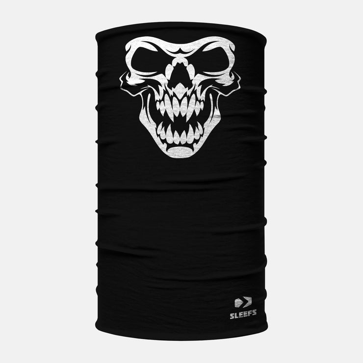 Skeleton Black White Neck Gaiter