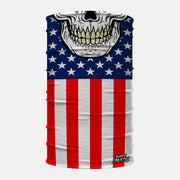Skull Mask USA Flag Neck Gaiter