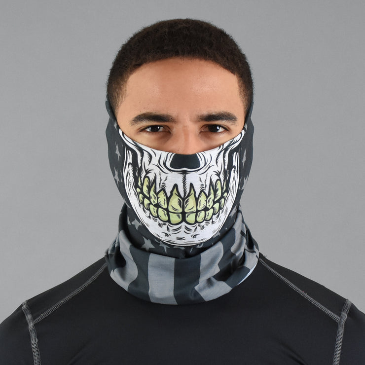 Skull Mask Tactical USA Flag Neck Gaiter