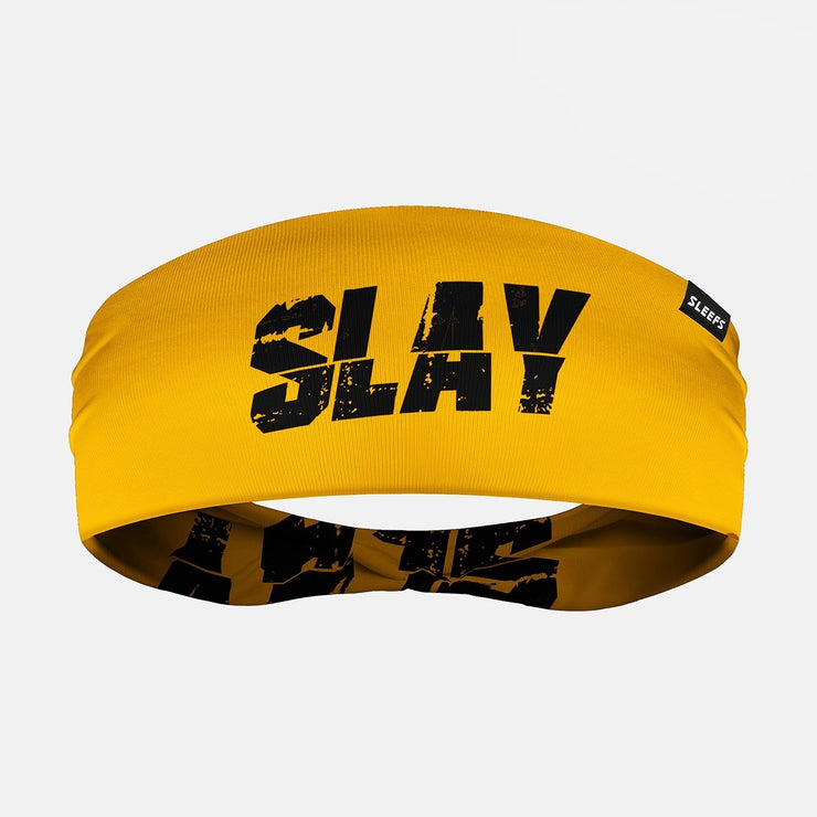 Slay Yellow Black Double Sided Headband