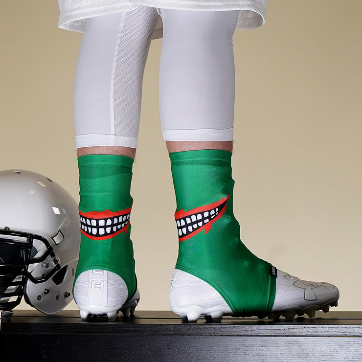 Smile Green Spats / Cleat Covers