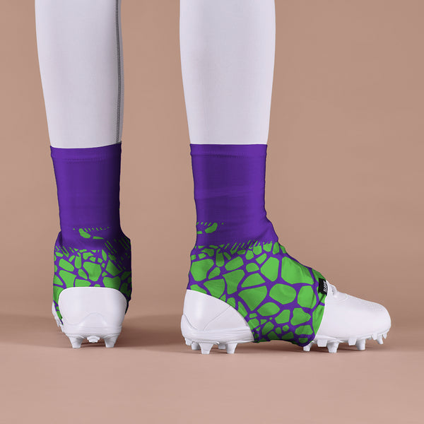 Snake Skin Purple Green Spats / Cleat Covers