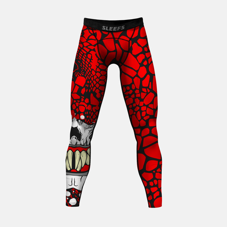 Snake Skull Mask Tights for men