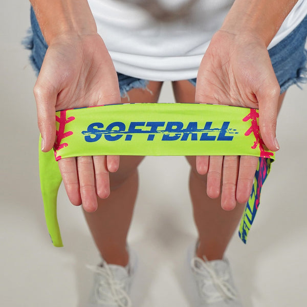 Softball Savage  Kids Tie Headband